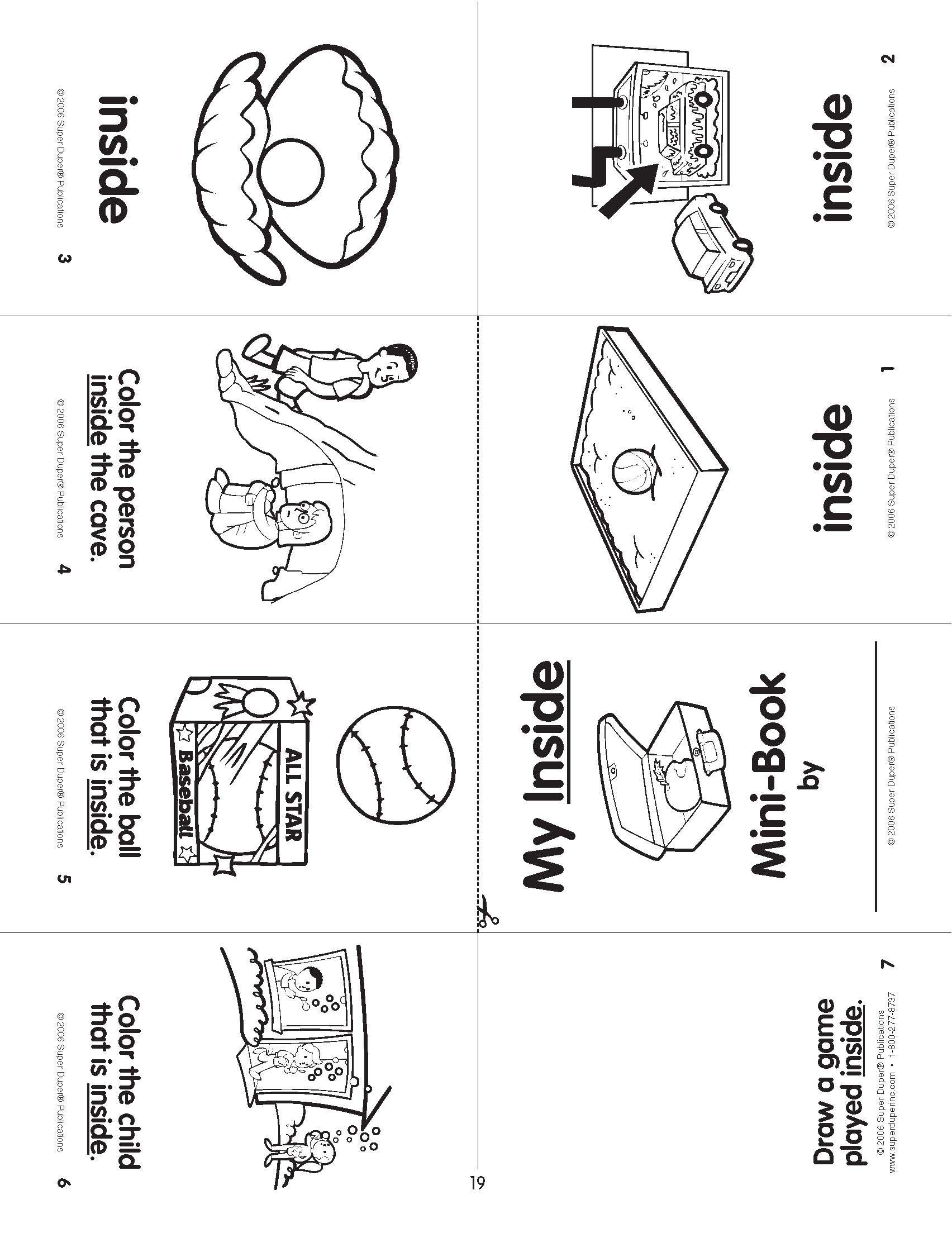 From Super Duper S Fold And Say Basic Concepts Mini Books