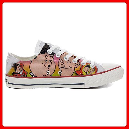 Converse All Star personalisierte Schuhe (Handwerk Produkt) Slim Stanlio e Ollio