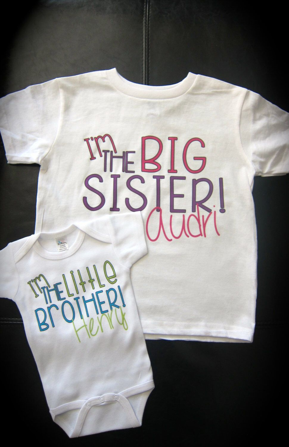 36398fe94 Personalized I'm the BIG sister/brother LITTLE sister/brother onesie or t