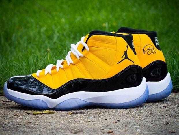 more photos 4dd6d 75800 Air Jordan 11 Custom Iowas (Yellow Gold and Black) High Tops