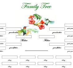 Free Printable Family Charts | New Printable Family Trees ...
