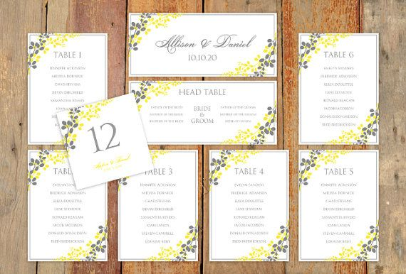 Wedding Seating Chart Template - DOWNLOAD Instantly - EDITABLE - free printable seating chart