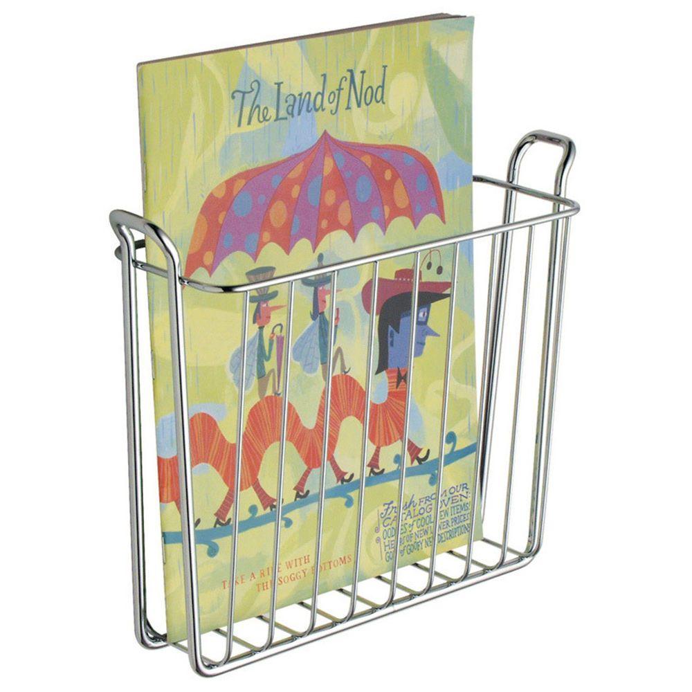 Wall Mount Magazine Rack Newspaper Holder Basket Bathroom Toilet Book Storage Interdesign Interdesign Magazine Holders Magazine Storage