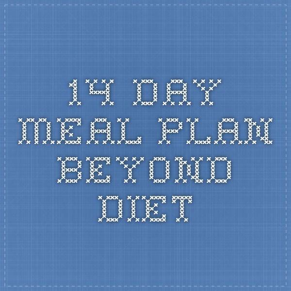 14 Day Meal Plan Beyond Diet Beyond Diet Beyond Diet Recipes Diet