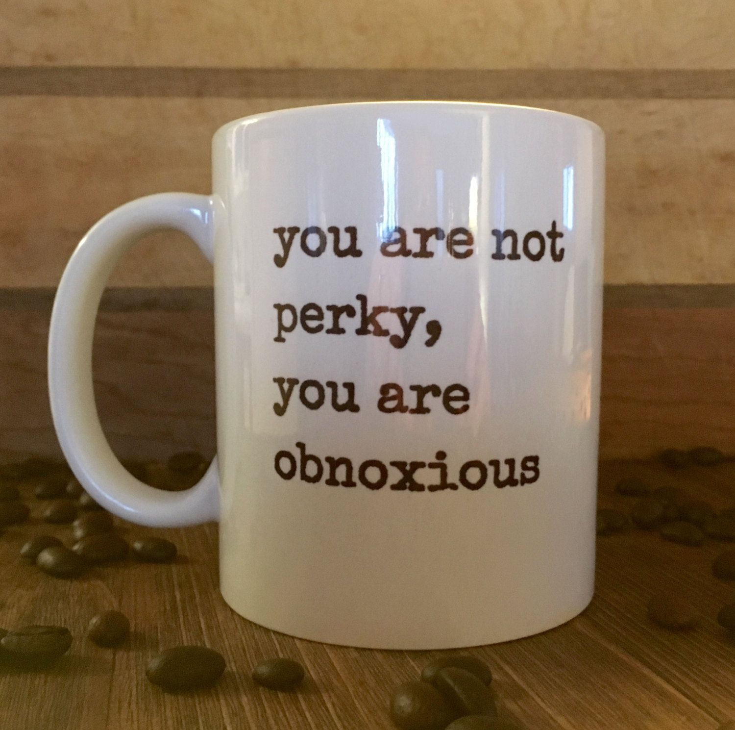 Not Perky, office mug, coworker gift, sarcastic gift