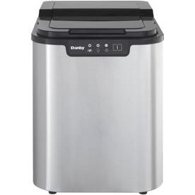 Danby 25 Lb Flip Up Portable Countertop Ice Maker Stainless Steel