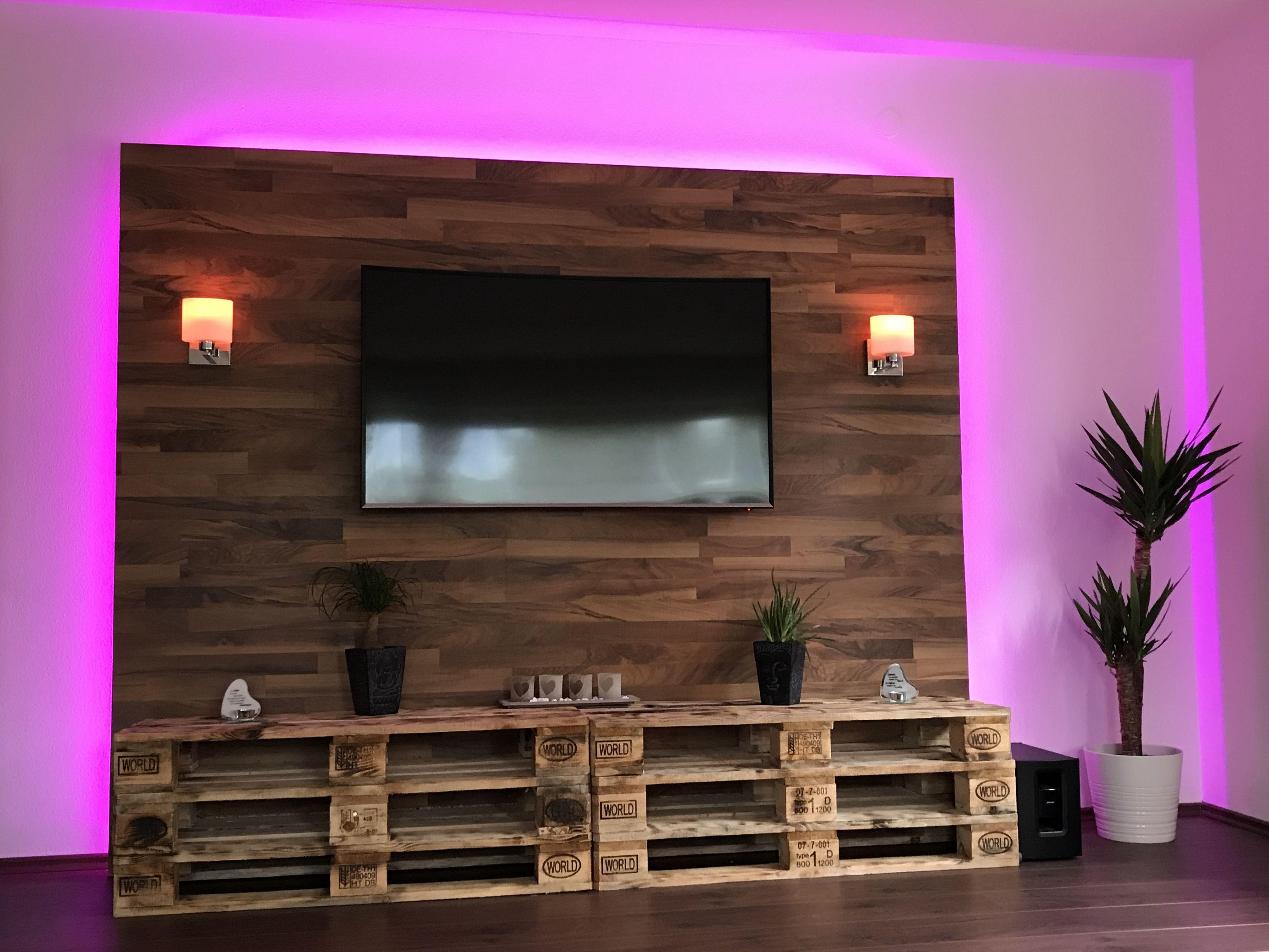 Tv Wand Aus Paletten Tv Wand In 2019 Furniture Living Room Und Room