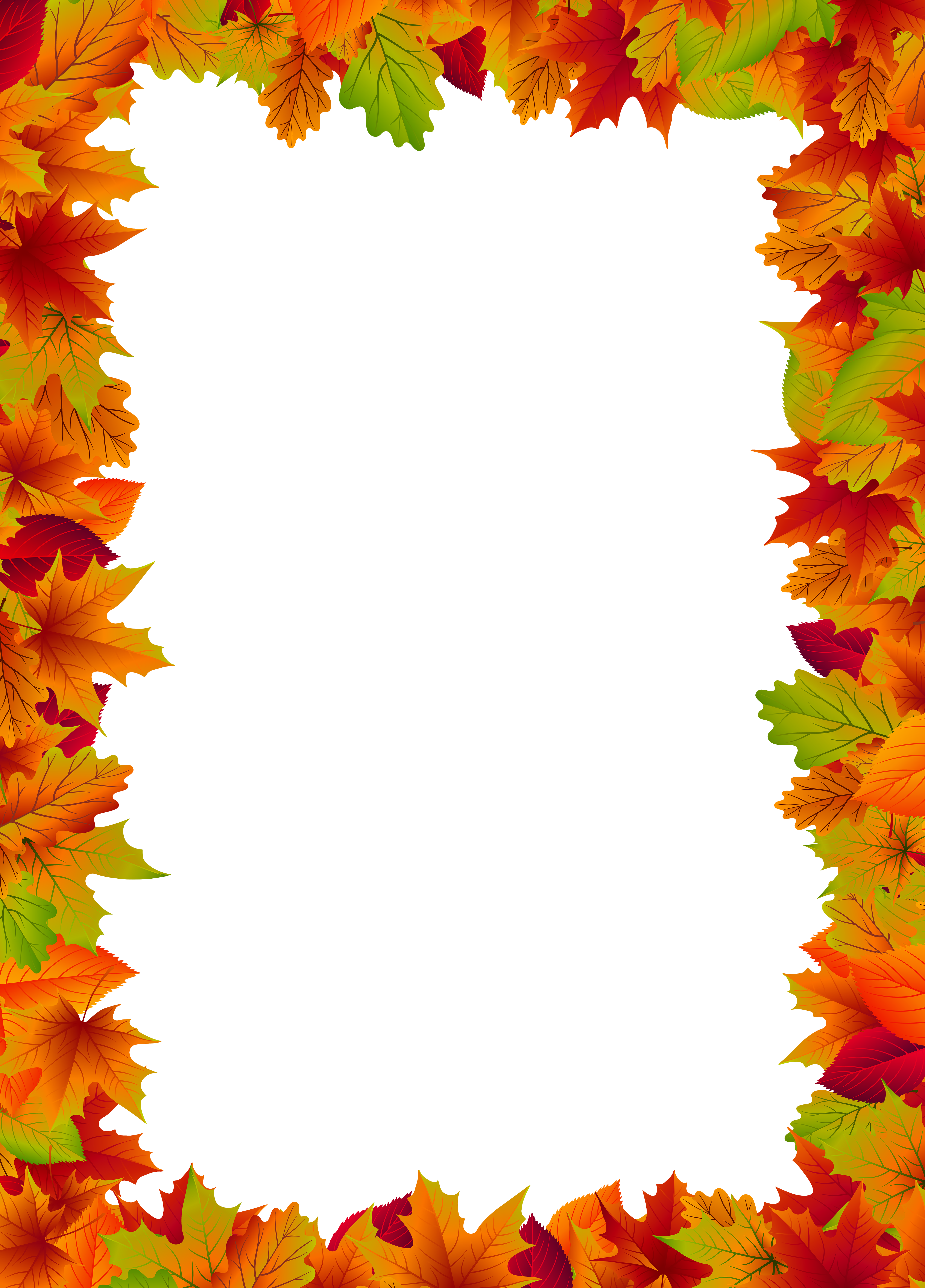 Fall Border Frame Png Clip Art Image Gallery Yopriceville High Quality Images And Transparent Png Free Fall Borders Clip Art Frames Borders Fall Clip Art
