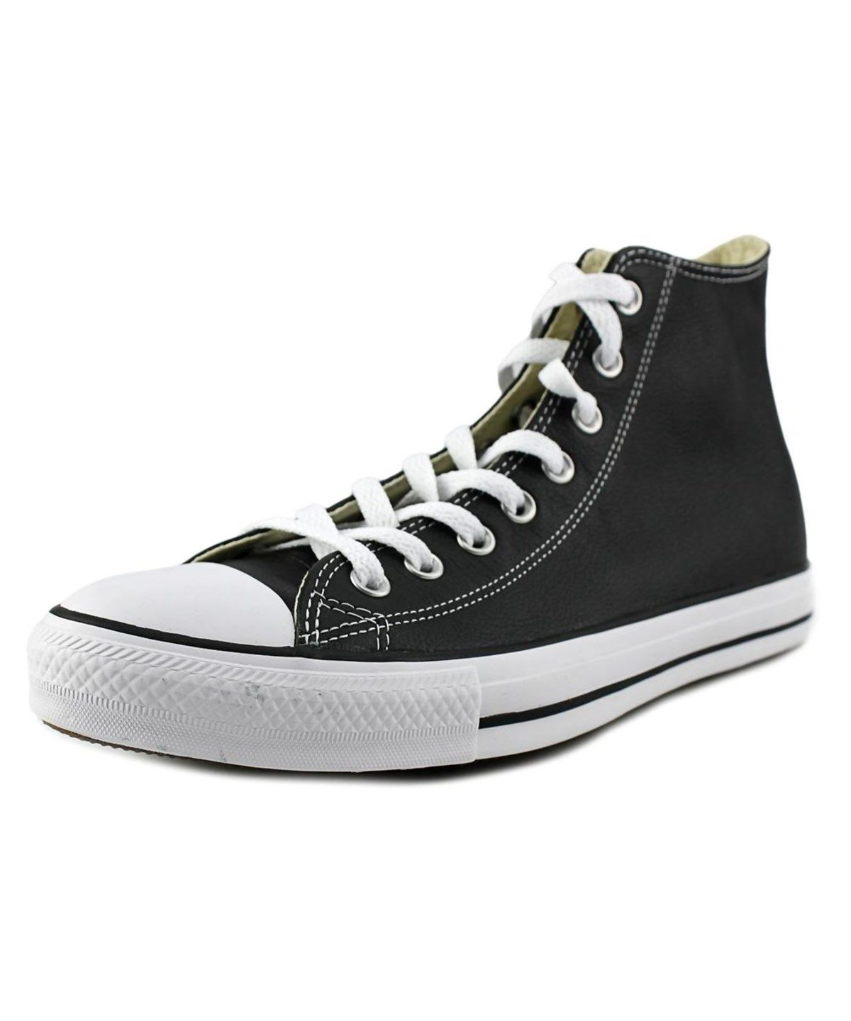 74f51defe2b CONVERSE Converse Chuck Taylor Hi Men Round Toe Leather Black Sneakers .   converse  shoes  sneakers