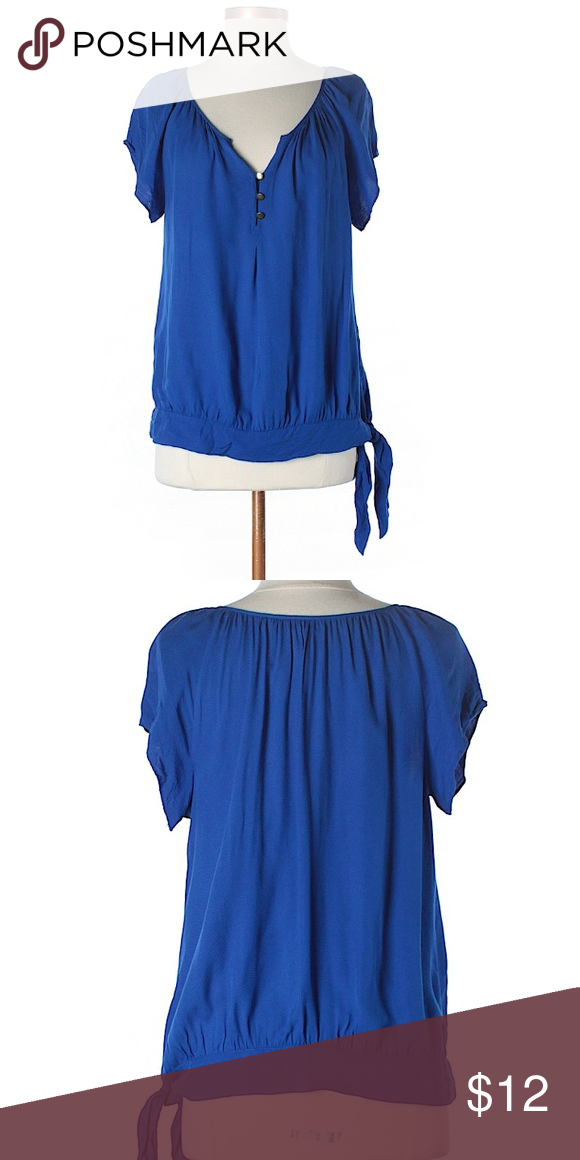 Apt. 9 blue side-tie blouse. Size small. Gorgeous blue side-tie blouse from Apt. 9. Measurements and additional photos upon request. Excellent condition. From smoke-free home. (Added 8/6/17-BOX7). Apt. 9 Tops Blouses