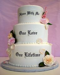 Wedding Cake With Written Inscription Spring Wedding Cakes Spring Wedding Cake Themed Wedding Cakes Wedding Cake Quotes