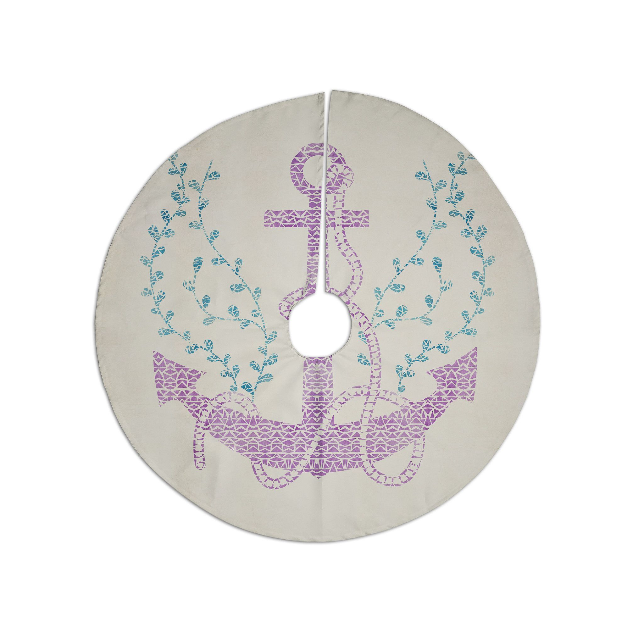 "Pom Graphic Design ""Tribal Nautica II"" Christmas Tree Skirt"
