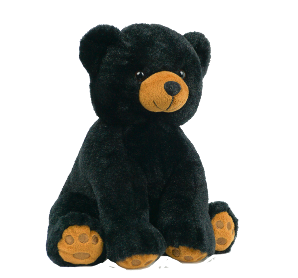 Little By Nature Hand Stuffed With Love 16 Inch Black Bear Little By Nature Stuffed With Love Black Teddy Bear Talking Teddy Bear Teddy Bear