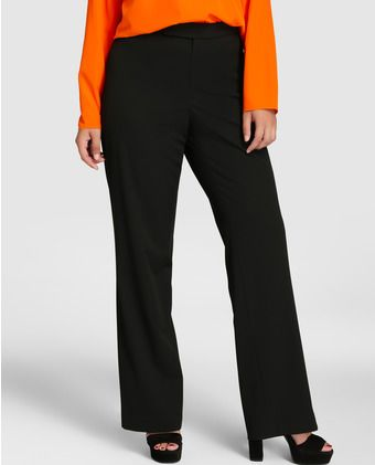 Pantalón de vestir de mujer talla grande Lauren Woman en color negro ... ffb193dcc2be