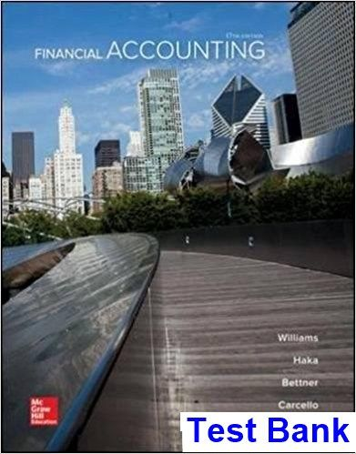 financial accounting 17th edition williams test bank test bank