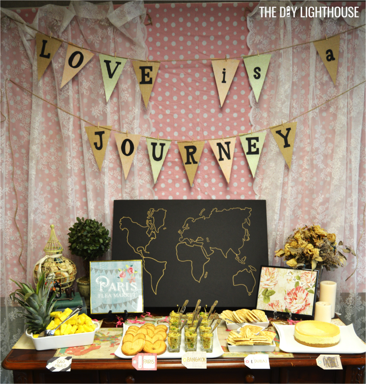 ideas for how to throw a travel themed bridal shower on a budget food invitation decor games inexpensive and cheap wedding inspiration travel theme