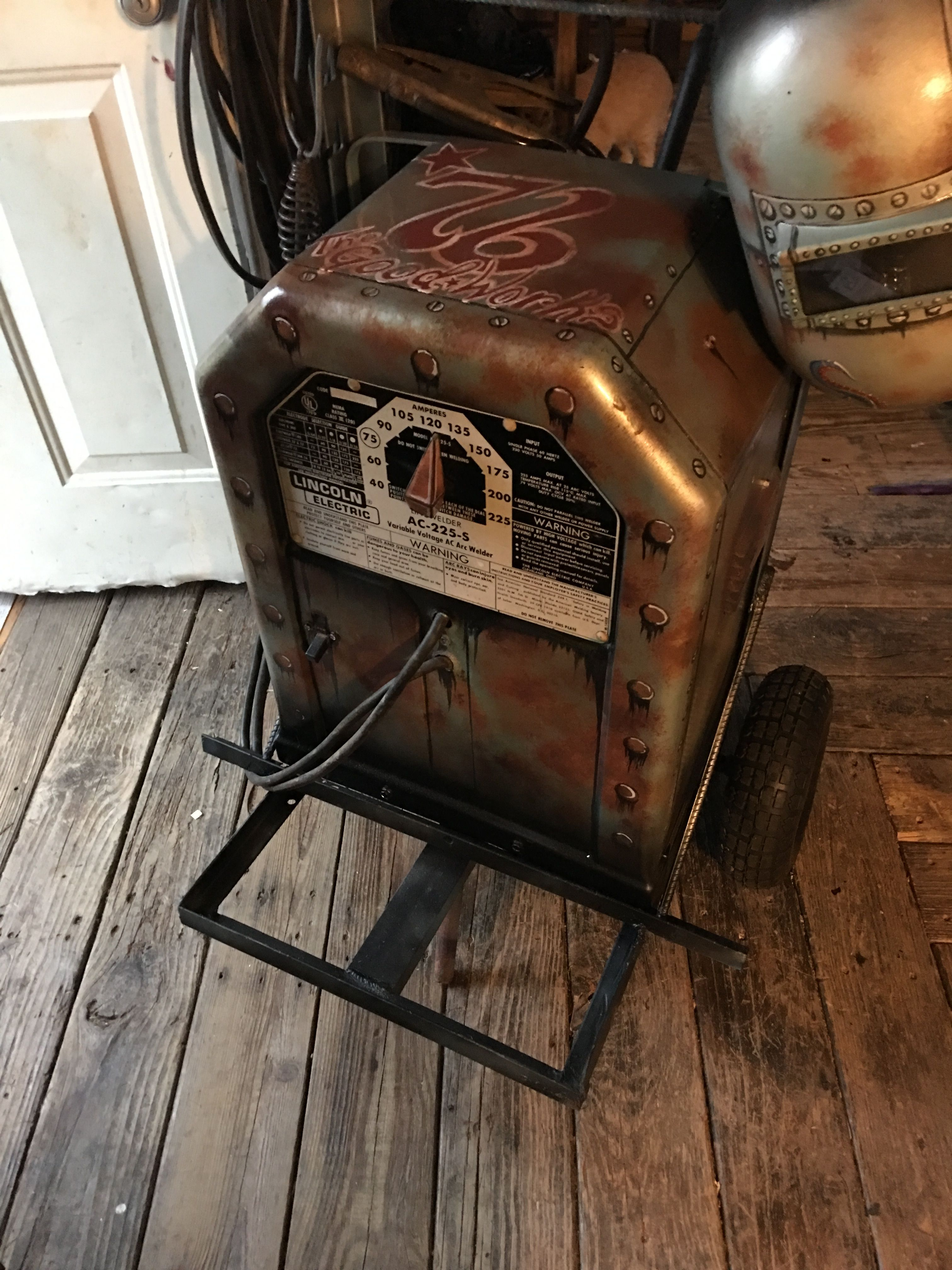 hight resolution of custom painted stick welder lincoln welder ac 225 s tombstone buzz box kolby austin