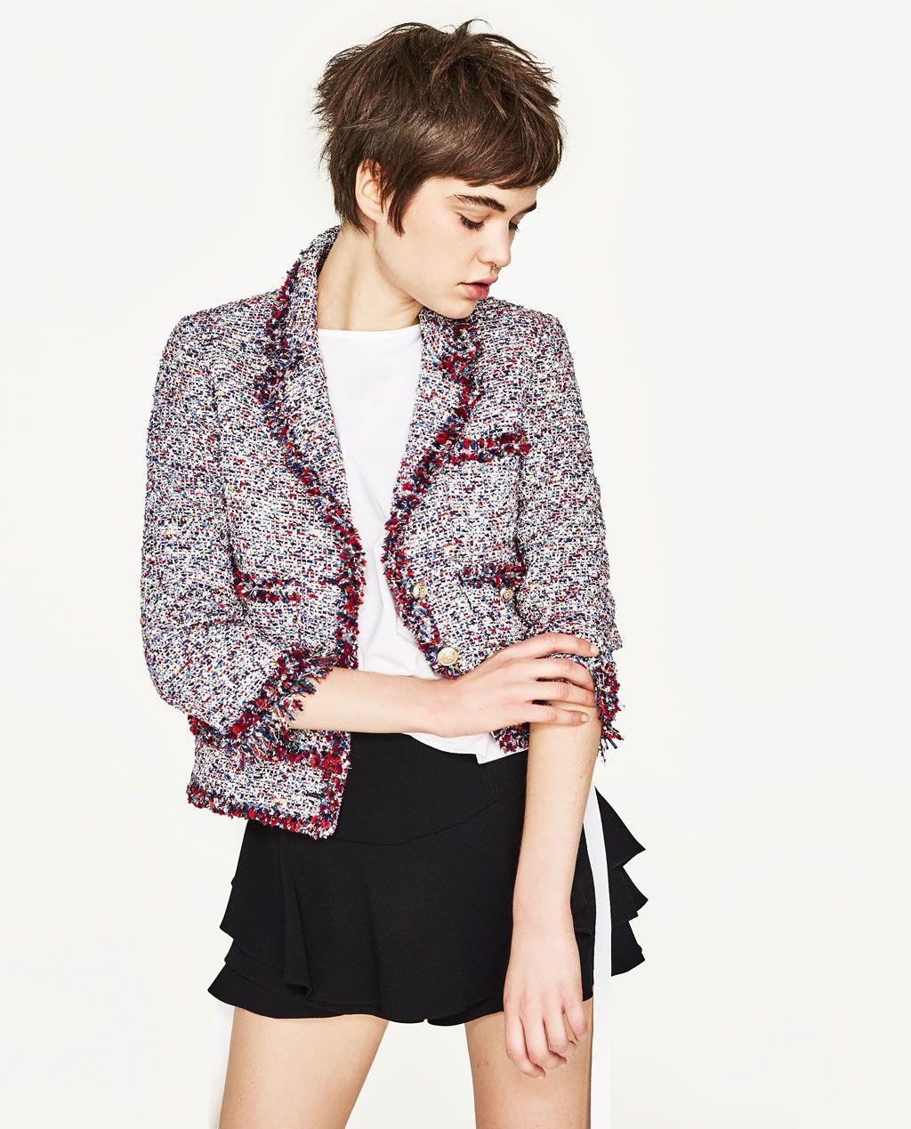 FRAYED JACKET-JACKETS-WOMAN | ZARA United States | Fashion ...