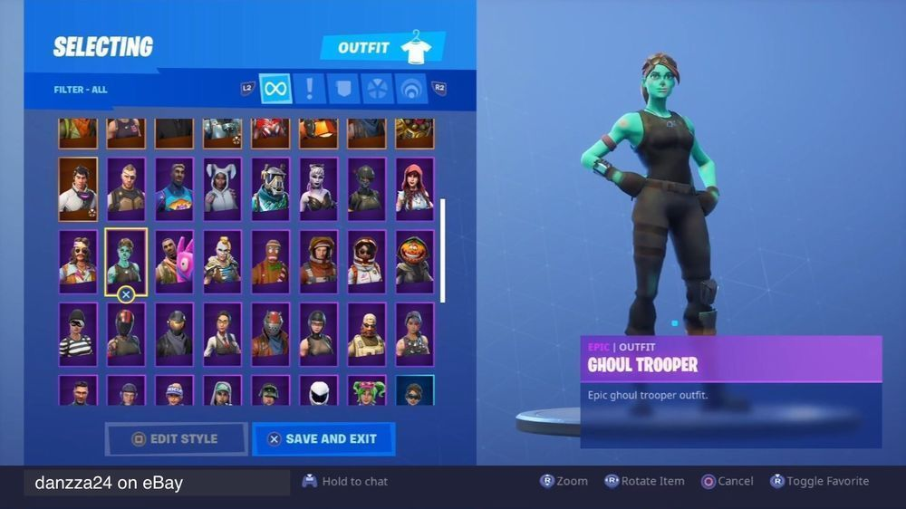 Details About Stacked Fortnite Account Fortnite Ghoul Trooper Accounting