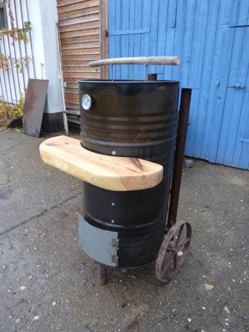 der leichte ugly drum smoker pimp my bauernhof oil barrel ugly drum smoker diy barrel. Black Bedroom Furniture Sets. Home Design Ideas
