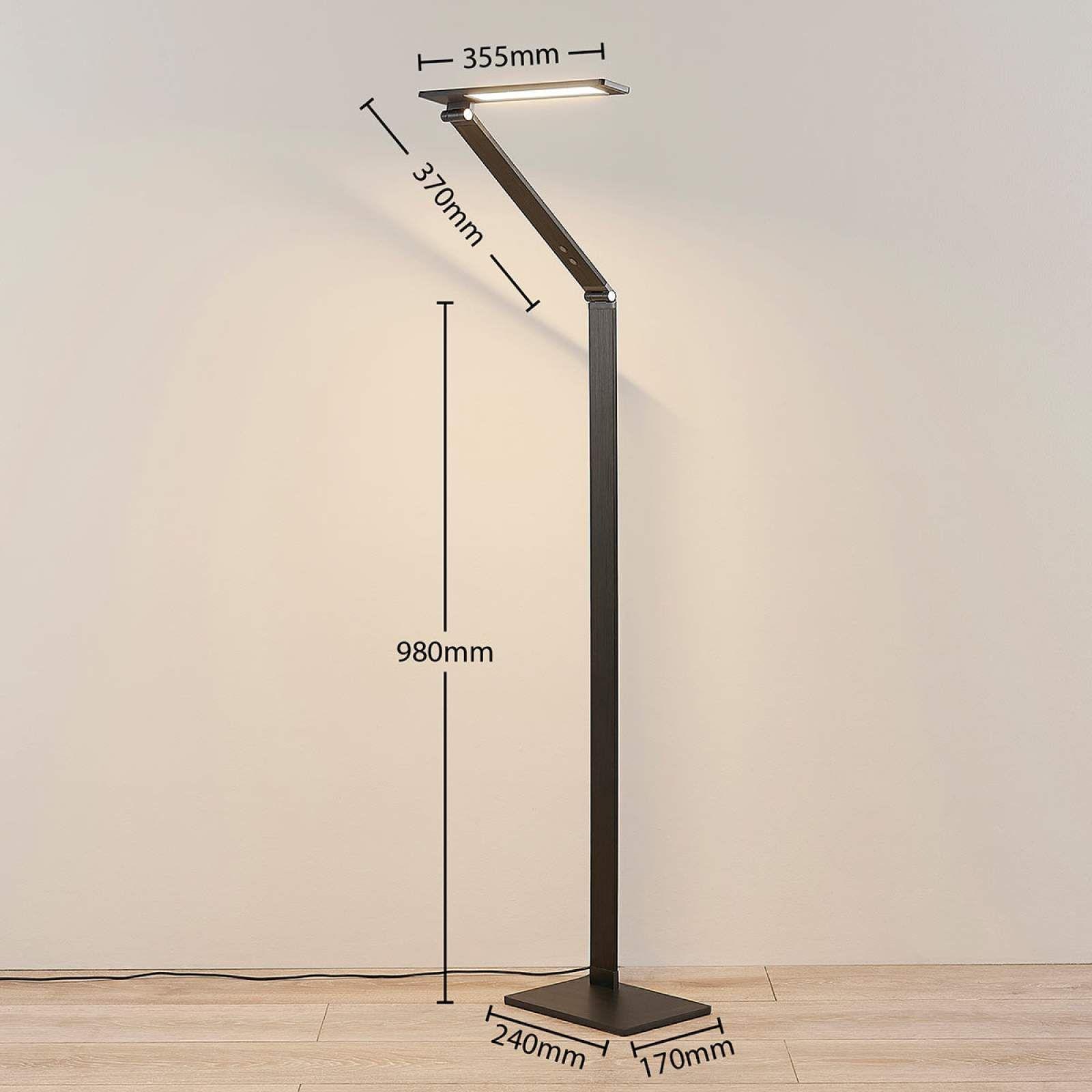Moderne Schreibtischleuchte Von Lucande Schwarz Stehlampe Led Stehlampe Und Schreibtischlampe
