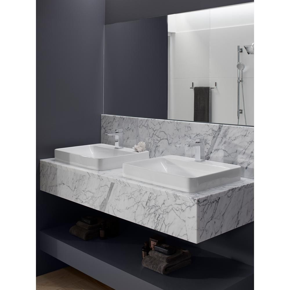Kohler Vox Vitreous China Vessel Sink In White With Overflow Drain K 2660 1 0 The Home Depot In 2020 Rectangular Sink Bathroom Sink Neo Angle Shower Enclosures