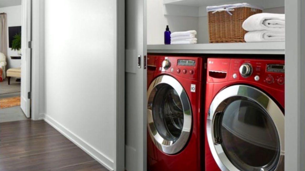 17+ Small Laundry Room Ideas - YouTube  Small laundry rooms