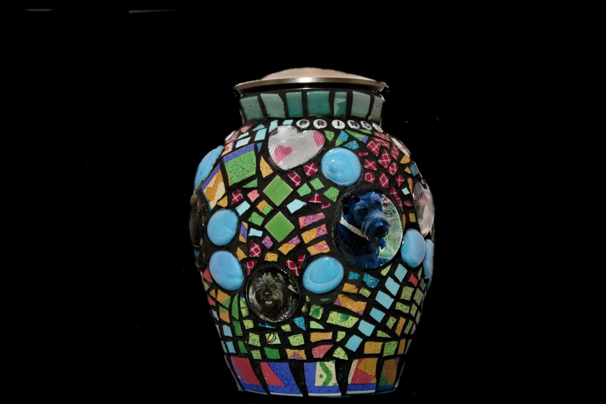 Pet Memorial - Handcrafted Mosaic Memorial Urns for Pets | Mosaic ...