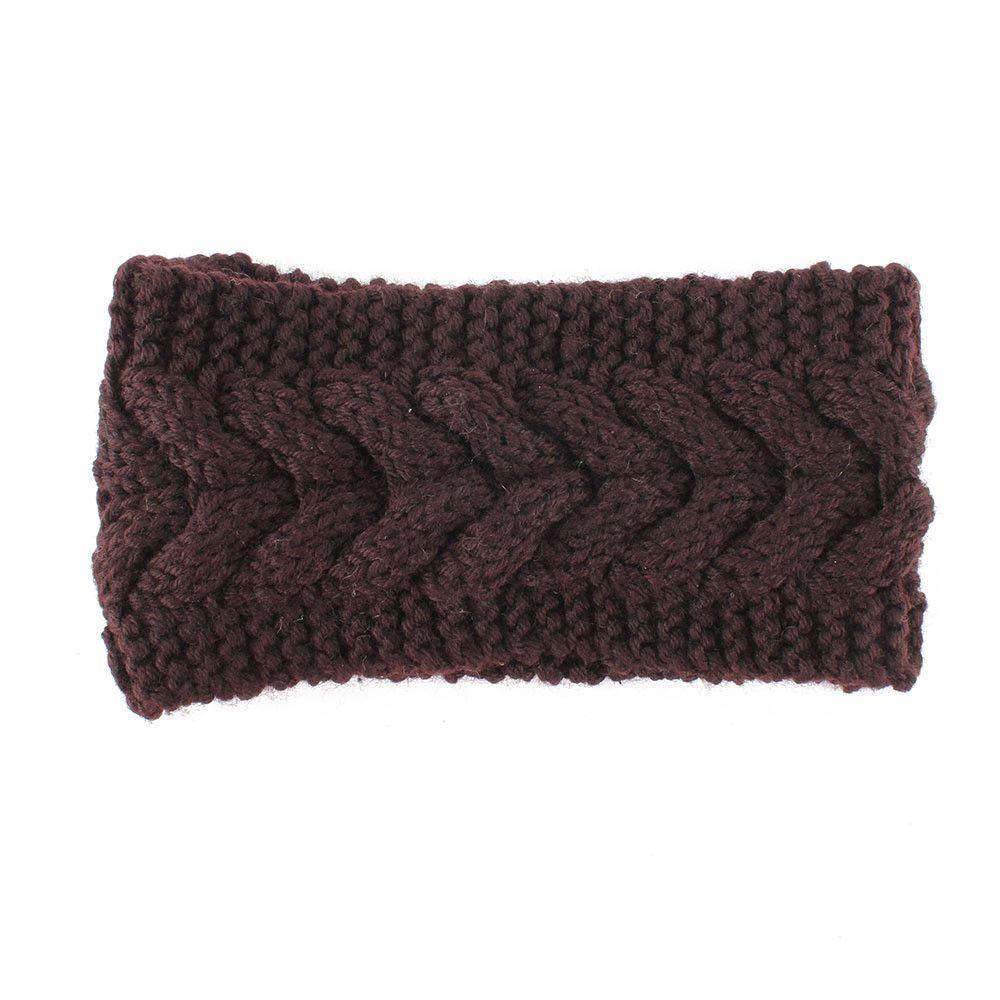 Fashion Winter Warm Women Crochet Knitted Braided Knit Wool Hat Cap