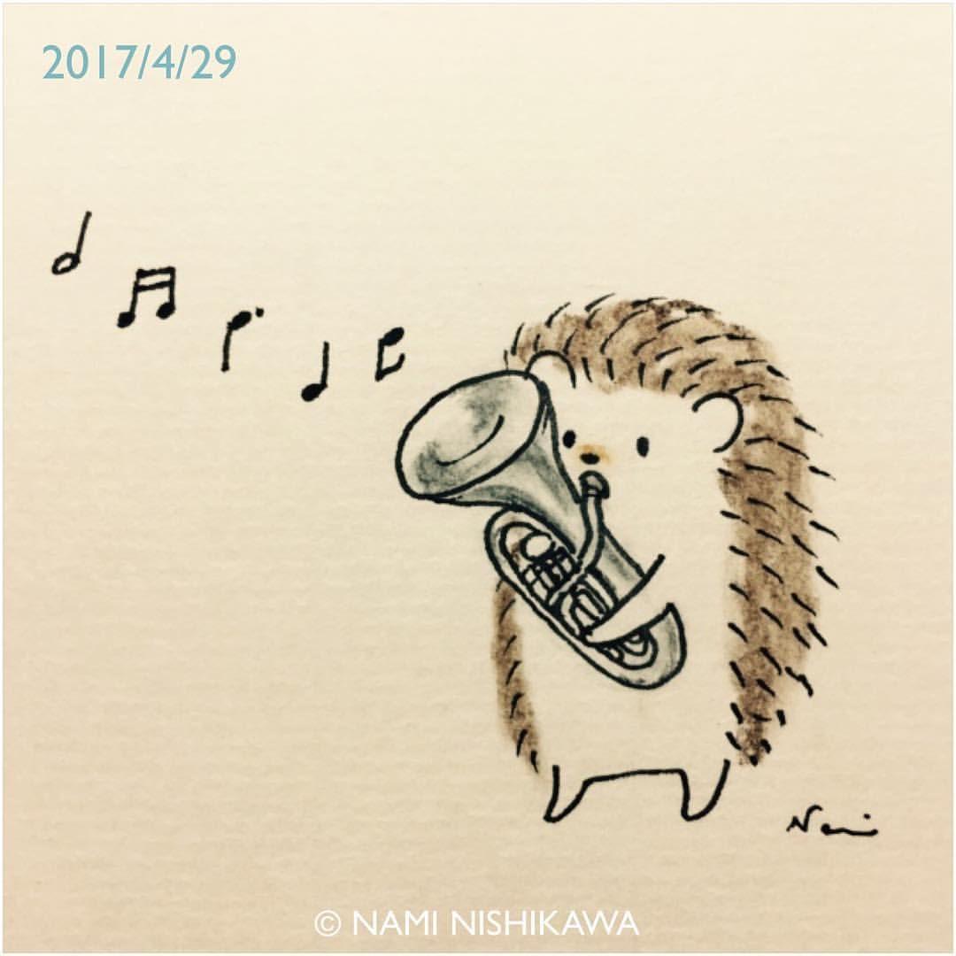1161 ユーフォニアム Euphonium Illustration Hedgehog イラスト