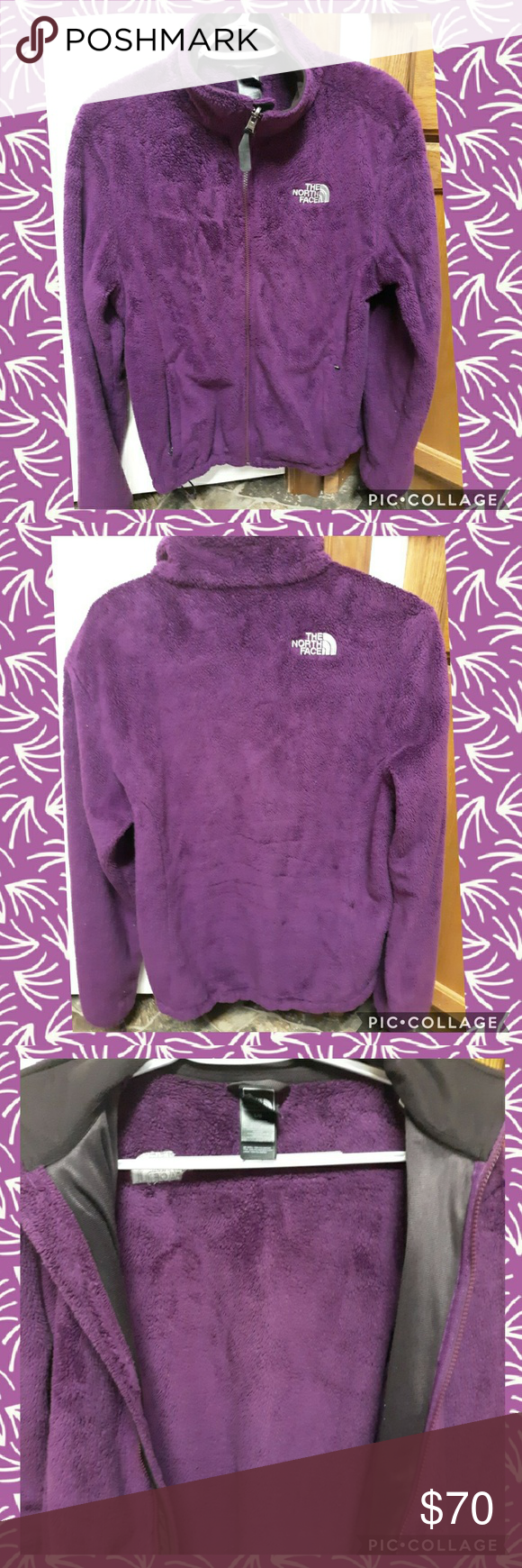 North Face Osito Jacket Purple Large North Face Women North Face Osito The North Face [ 1740 x 580 Pixel ]