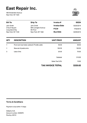 Pure White  Tax Invoices