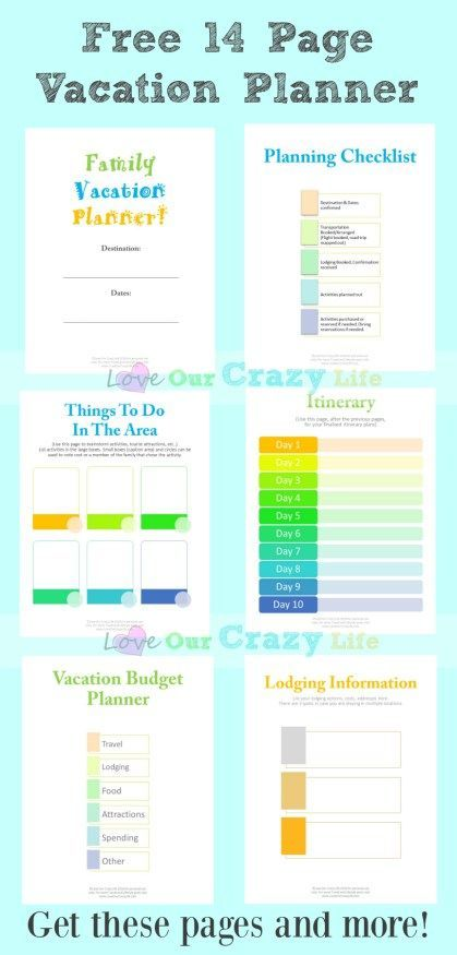 Family Vacation Planning Tips (Free Planner | Travel ...