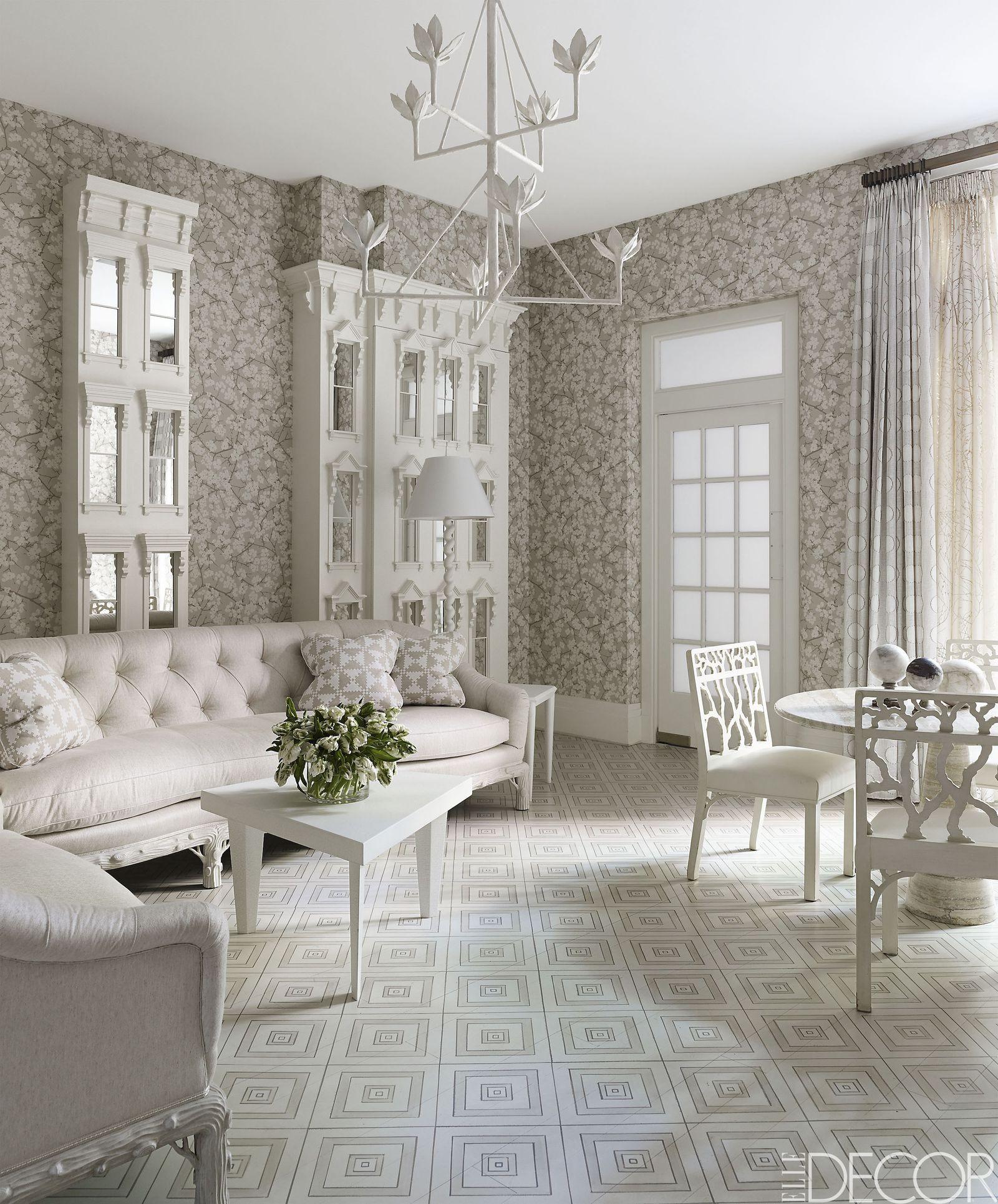 20 Pristine Ways To Design With White Living Room Furni