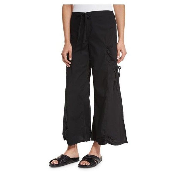 XCVI Ankle-Length Gaucho Pants, Black ($99) ❤ liked on Polyvore ...