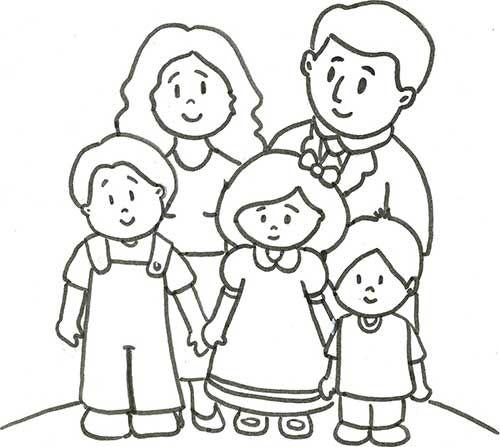 20 Desenhos De Familia Para Pintar Em Casa Em 2020 Com Imagens