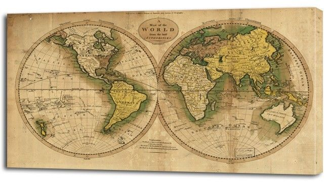 3 sizes ancient world map canvas print home wall decor art retro 3 sizes ancient world map canvas print home wall decor art retro giclee on ebay gumiabroncs Images
