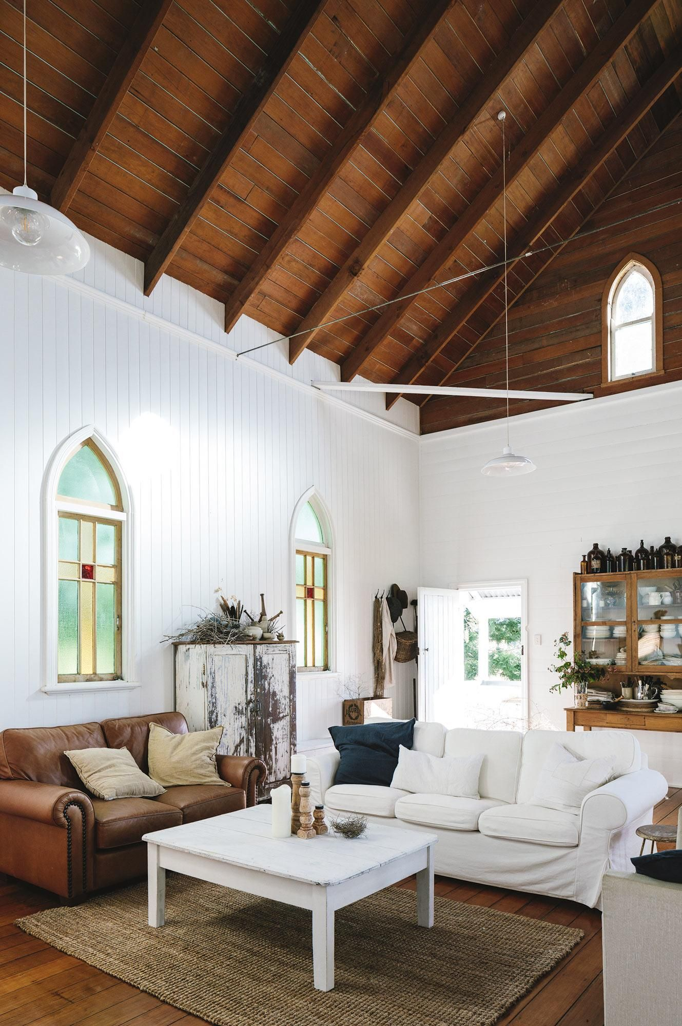 Small Country Living Room Ideas: Church Conversion Becomes Divine Family Home