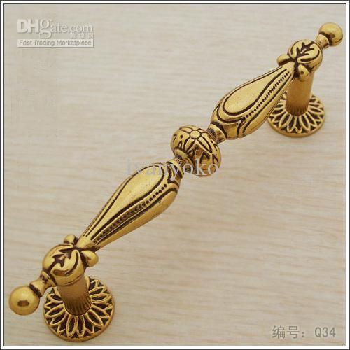 130MM/Golden Antique Copper European Door Handle /Ambry Drawer Rural ...