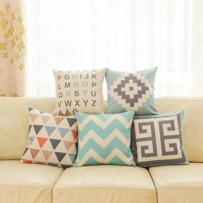 Top finel 5 pcs housses de coussin multicolores coton et - Housse coussin 60x60 pour canape ...