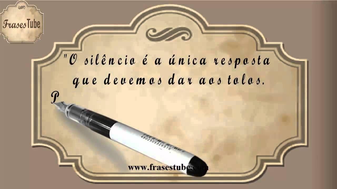 """Quando A Ignorância Fala A Inteligência Não Dá Palpite: Frases De Indiretas #01 """"O Silêncio é A única Resposta Que"""