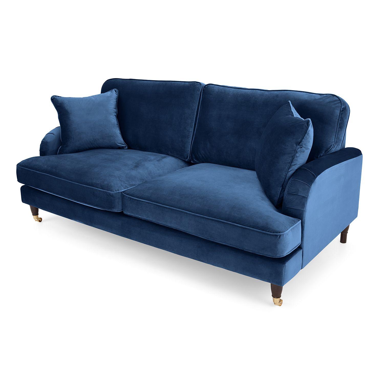 Rupert 2 Seater Velvet Sofa Next Day Delivery Rupert 2 Seater Velvet Sofa Sofa Velvet Sofa Blue Sofa