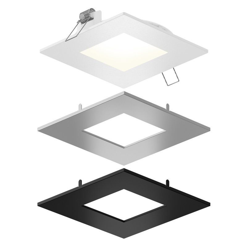 Dals Lighting Spnsq Cc 3t Square Panel Outdoor Ceiling Light Led Panel Light Recessed Lighting Kits Recessed Lighting