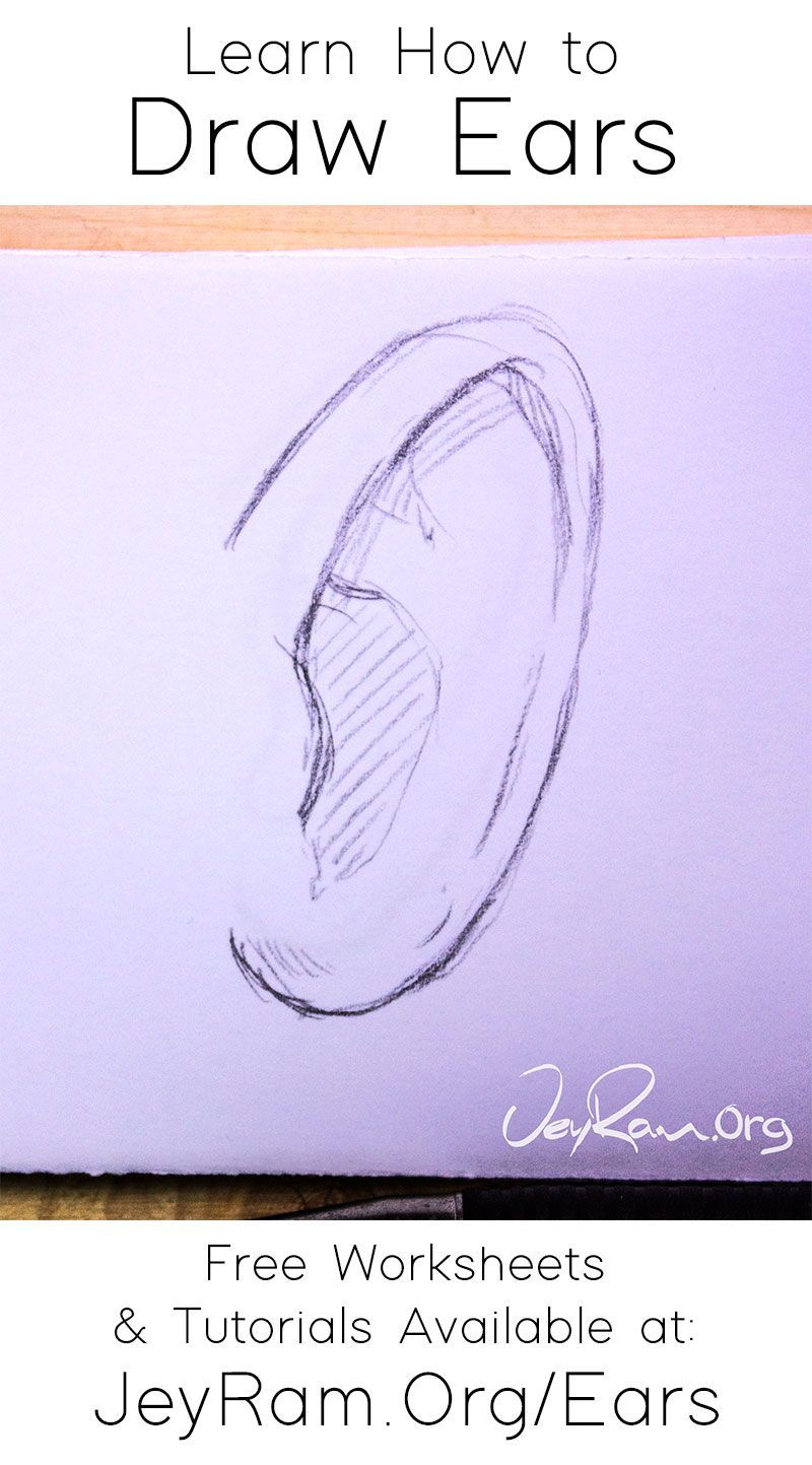 How To Draw Ears In 2020 How To Draw Ears Drawings Learn To Draw