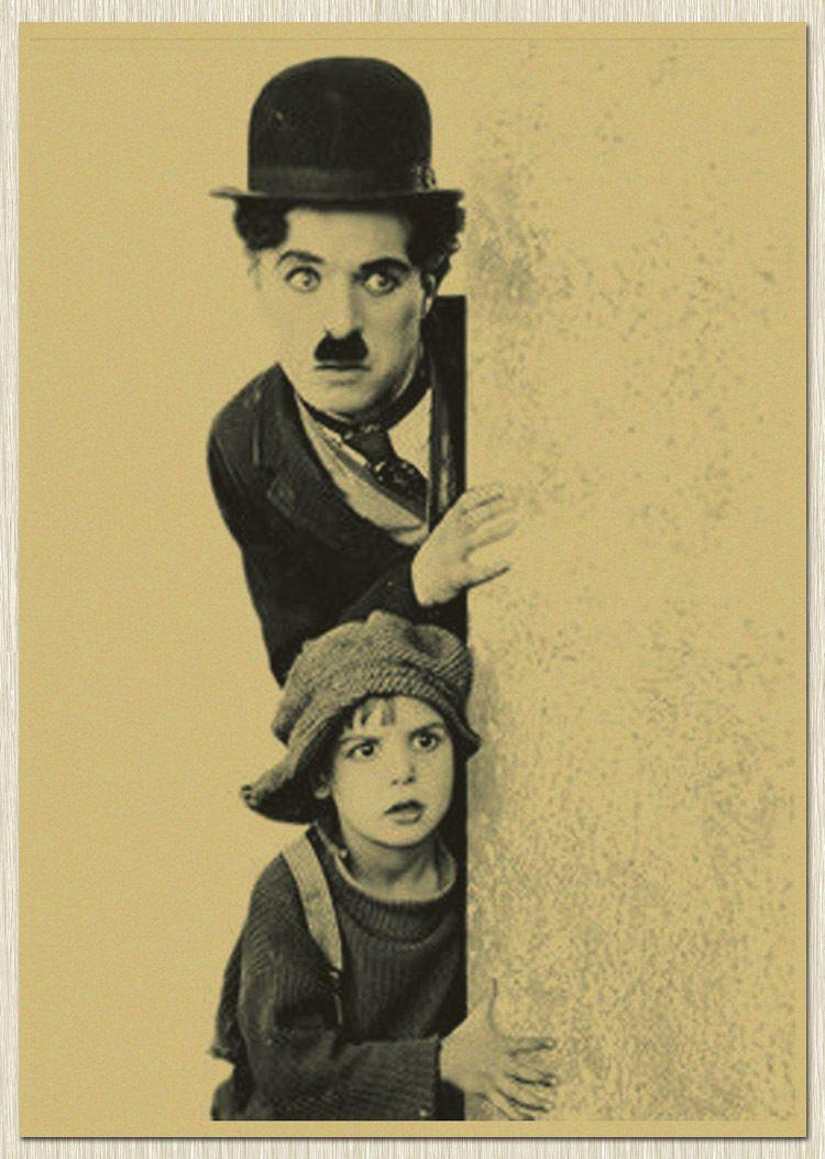 Charlie Chaplin Vintage Poster Wall Bar House Art Decoration Mix ...