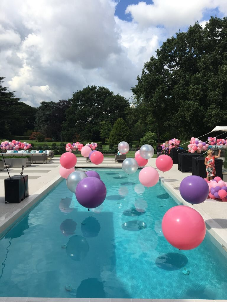 Bubblegum Balloons Pool Balloons Party Swimming Pool Pool