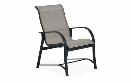 Winston Mayfair Sling Aluminum High Back Arm Dining Chair M65001 Outdoor Furniture Luxury Patio Furniture Luxury Furniture Brands