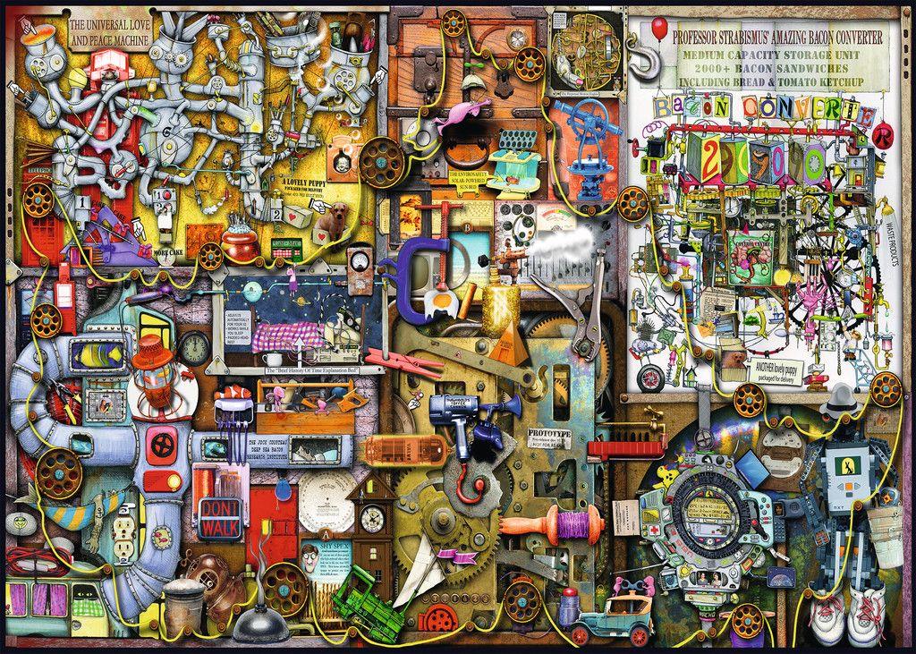 Puzzle Ravensburger 1000 Piezas Ref 19597 Colin Thompson The Inventor S Cupboard 50 X 70 Cm Puzzle Shop Jigsaw Puzzles Mural