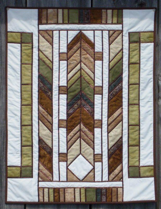 Frank Lloyd Wright Quilt East Aurora Location Modern