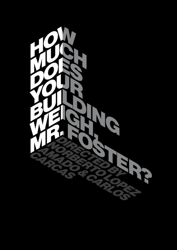 Norman Foster Design By Gabriel Benderski Typography Poster